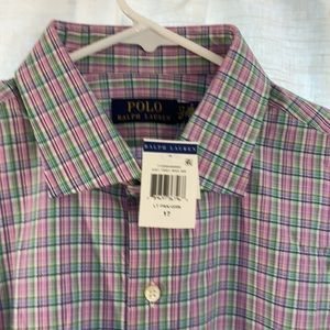 NEW Polo by Ralph Lauren 17/43 Mens Plaid